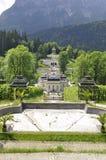 ETTAL修道院,德国- 2018年8月12日:Linderhof宫殿德语:Schloss Linderhof是Schloss在德国,在巴伐利亚 图库摄影