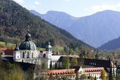 Ettal Abbey, Bavaria, Germany. Ettal Abbey monastery church near Oberammergau, Upper Bavaria, Bavaria, Germany, Europe Stock Photos