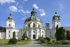 Ettal Abbey, Bavaria, Germany. Ettal Abbey monastery church near Oberammergau, Upper Bavaria, Bavaria, Germany, Europe Stock Photography