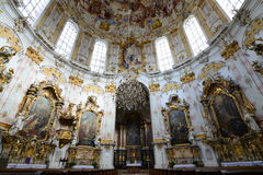 Ettal Abbey-Inside Stock Photos