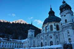 Ettal abbey winter scenery Royalty Free Stock Image
