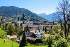Ettal-Abtei im oberen Bayern, Deutschland Lizenzfreies Stockbild