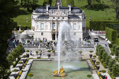 Ettal, Germany, 23 July 2015: Castle Linderhof in the Bavarian A Stock Photography