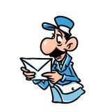 Etter  post postman surprised Royalty Free Stock Photo