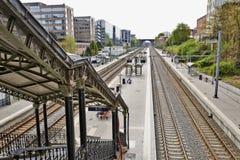 Etterbeek stacja w kapitału regionie Fotografia Royalty Free