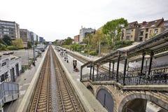 Etterbeek stacja w kapitału regionie Zdjęcia Royalty Free