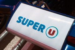 Etters Super U on a shopping cart Stock Images