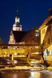 Ettlingen par nuit Photos libres de droits