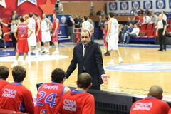 Ettore Messina. Russian Basketball League Semifinal, Game 1: May 08, 2009 Royalty Free Stock Images