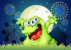 Ettsynat monster på karnevalet Arkivfoto