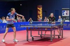 ETTU - SVS Stroeck vs. Linz AG Froschberg Royalty Free Stock Images