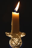 Etude with Burning Candle Royalty Free Stock Photo