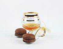 Etude voor cognac en chocolade Stock Foto's