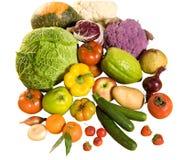 Etwas Frischgemüse und Früchte Stockbilder