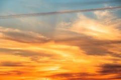 Etwas goldenes Wetter Stockfoto