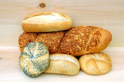 Etwas heiße Brote Stockfotografie