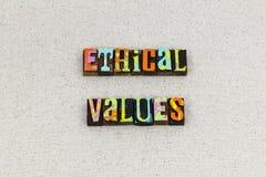 Etyczny wartości etyk zasad zachowanie zdjęcia royalty free