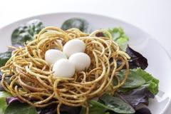 Etyczny weganin lub jarski organicznie zdrowy spiralized posiłek fotografia stock