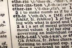 Etyk etyk definicji etyczny moralny słownik obrazy royalty free