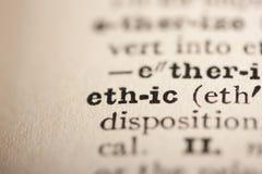 etyki słowo obrazy stock