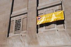 Etyki, Wyobrażają sobie przyszłość napad z bronią w ręku Swobodnie, NYC, NY, usa Zdjęcie Stock