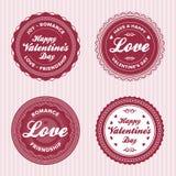 etykietek miłości valentine royalty ilustracja