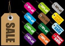 etykietek sprzedaży wektor Fotografia Stock