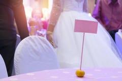Etykietka ślub podpisuje wewnątrz pomarańcze zdjęcie royalty free