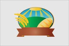 Etykietka chleb i uprawy royalty ilustracja