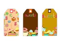 Etykietka cukierki kawowi Zdjęcie Stock