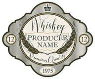 Etykietka dla whisky z ucho jęczmień Zdjęcie Royalty Free