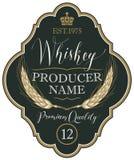 Etykietka dla whisky z ucho jęczmień Zdjęcia Royalty Free