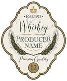 Etykietka dla whisky z ucho jęczmień Obraz Royalty Free