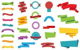 Etykietka majcherów sztandarów etykietka fotografia royalty free