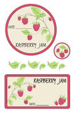 Etykietka malinowy dżem Obraz Stock