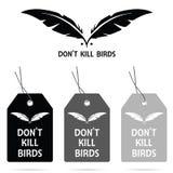 Etykietka no zabija ptaki na nim projekt ilustracja Fotografia Stock