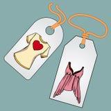 Etykietka, odznaka, metka z wizerunkiem modne rzeczy ilustracji