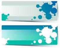 Etykietka projekt z błękitnym pluśnięciem ilustracja wektor