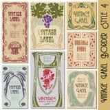 etykietka ramowy rocznik Obrazy Royalty Free