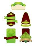etykietka ramowy set royalty ilustracja