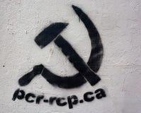 Etykietka Rewolucyjna partia komunistyczna Obrazy Royalty Free