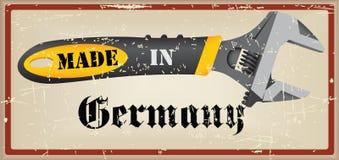 Etykietka Robić w Niemcy royalty ilustracja