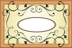 etykietka rocznik Zdjęcie Royalty Free