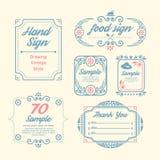 Etykietka rocznika projekt Przylepia etykietkę infographic szablon Zdjęcia Royalty Free