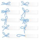 Etykietka set z piekarz dratwy łękami Fotografia Royalty Free