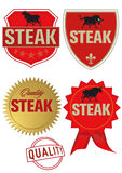 etykietka stek Obraz Royalty Free