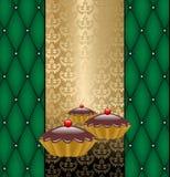etykietka tortowy czekoladowy wektor Obrazy Royalty Free