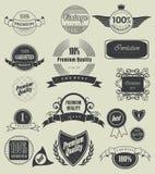 Etykietka, typografia, kaligraficzni projektów elementy Obrazy Royalty Free