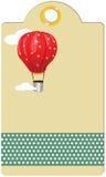 Etykietka z balonem ilustracja wektor