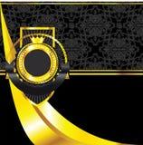 etykietka złoty rocznik royalty ilustracja